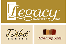 The Cabinet Gallery in Stuart Florida carries Legacy - Debut cabinets.