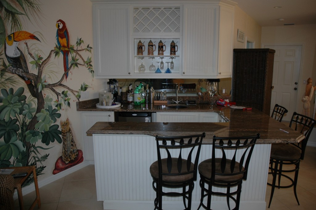 The Cabinet Gallery in Stuart, FL can design and install the custom wet bar of your dreams at an affordable price.